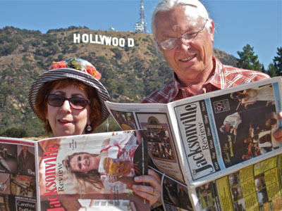 The Erdmann\'s Take The Review to Hollywood!