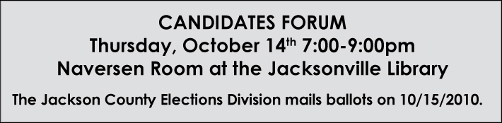 October Jacksonville Candidates Forum Announcement