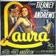 "Paul Becker's January 13th Free Movie is ""Laura,"" ""... a love that became the most fearful thing that ever happened to a woman!"""