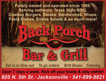 Click for Back Porch Bar & Grill website!