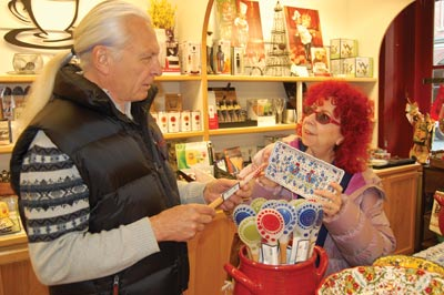 Paula and Terry Erdmann shop LOCAL at Pot Rack in Jacksonville, Oregon