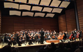 Rogue Valley Symphony, Southern Oregon Repertory Singers & SOU Chamber Choir fill the stage at Gala Celebration Concert commemorating the opening of the Oregon Center For The Arts at Southern Oregon University at SOU Music Recital Hall on Nov. 15, 2014.