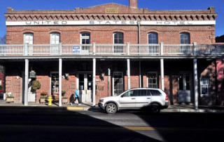 The 1880 U.S. Hotel in Jacksonville is owned by Jackson County and the Southern Oregon Historical Society. A leader in the Jacksonville community worries the historic building is deteriorating. Mail Tribune / Jamie Lusch