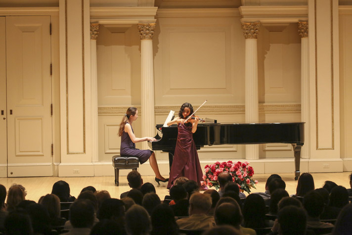 11 year old Dellara Sheibani of Ashland, OR won honors at the American Protégé International Competition Recital at Carnegie Hall, in NYC, on May 3, 2015, where she performed Kabalevsky's Violin Concerto in C Major.