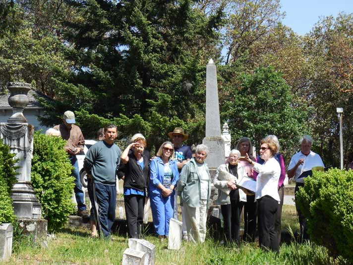 History Saturday at Jacksonville Oregon Historic Cemetery - photo by Mary Siedlecki