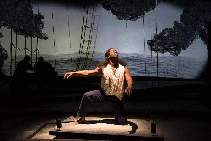 Pericles (Wayne T. Carr) at sea in OSF's Pericles.