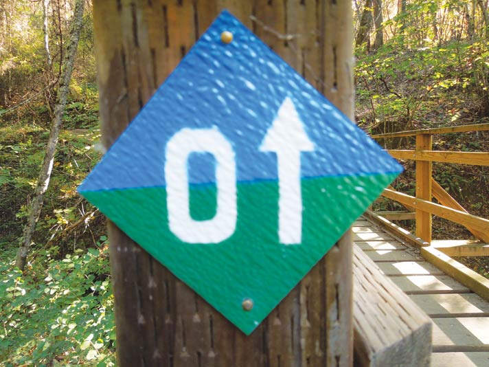 Forest Park Trail Loop Sign in Jacksonville, Oregon