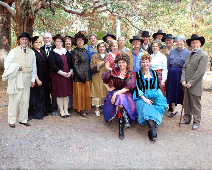 The cast of Meet the Pioneers 2015. Photo by Bill Miller.