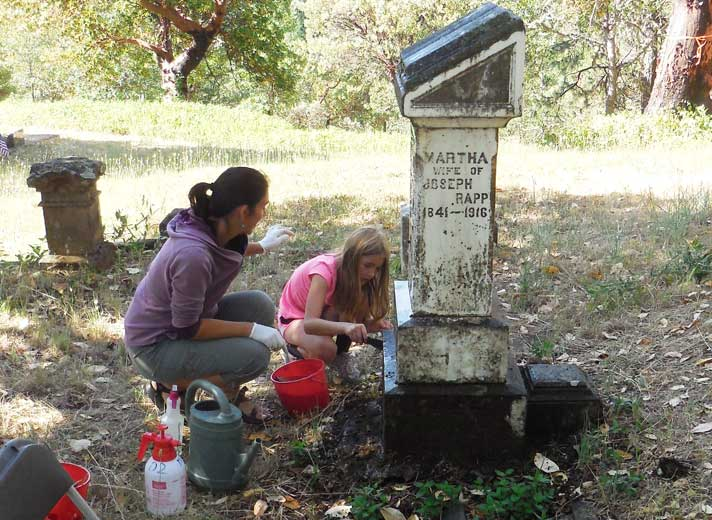 Photo by Mary Siedlecki is of Jacksonville residents, Michele Simmons and daughter Ruby who are regulars at our Marker Cleaning Workshops!