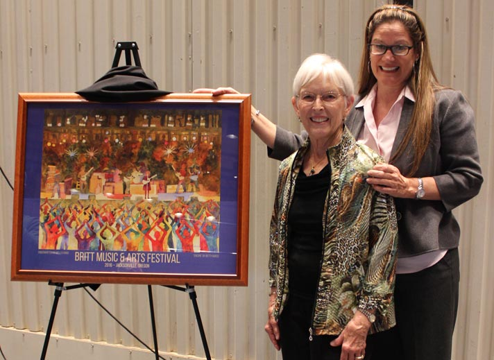 Betty Barss with Britt President & CEO, Donna Briggs