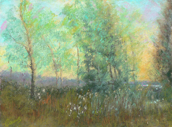 """In to the Gloaming"" pastel by Peter Coons"