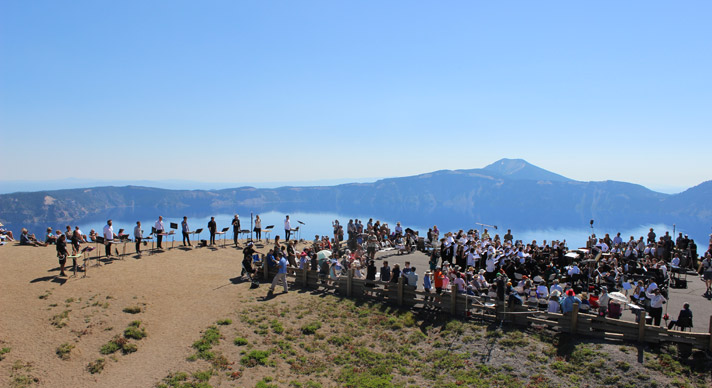 Britt Orchestra at Crater Lake National Park, July 2015. Photo by Jim Teece