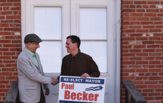 Mayor Paul Becker and Publisher, Whitman Parker