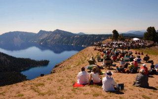 Britt Orchestra at Crater Lake, July 2016. Photo by Jay Newman