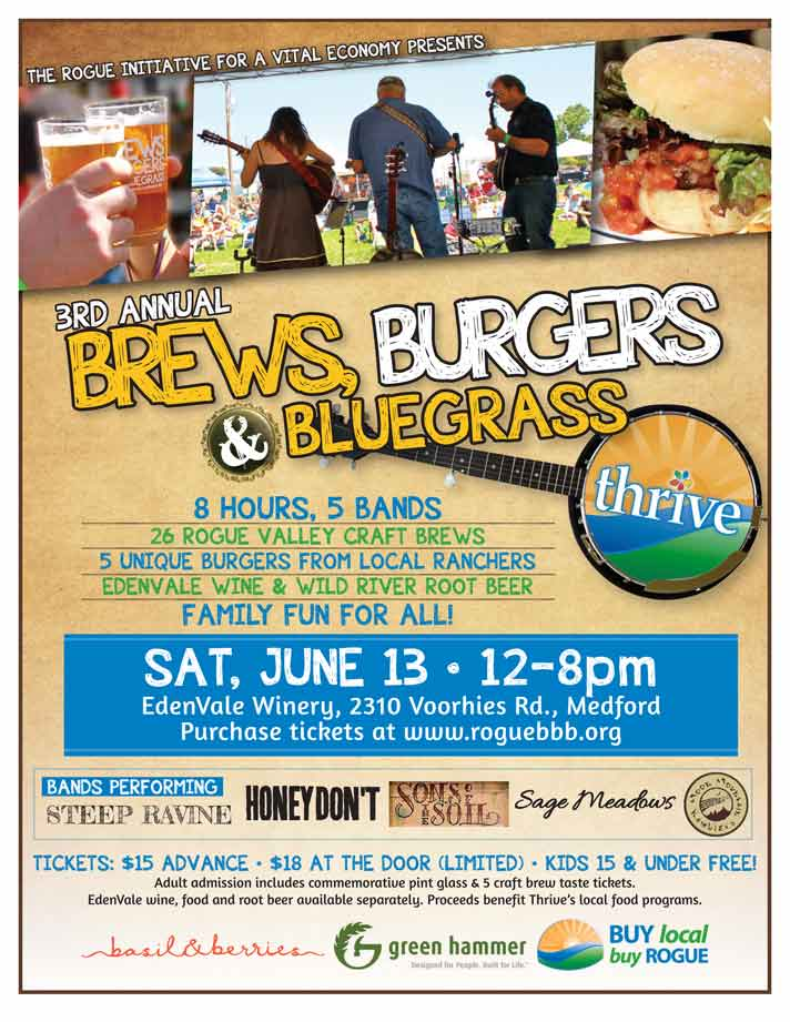 Brews Burgers u0026 Bluegrass to Benefit THRIVE on June 13th! 8 Hours!  sc 1 st  Jacksonville Review & Brews Burgers u0026 Bluegrass to Benefit THRIVE on June 13th ...